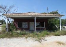 被放弃的物产在农村得克萨斯 库存图片
