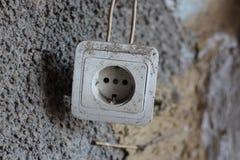 被放弃的电源插座 库存照片