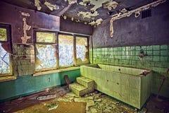 被放弃的疗养院- Orlowo格丁尼亚,波兰 图库摄影