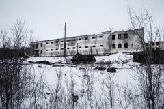 被放弃的监狱外部  免版税库存照片