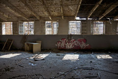 被放弃的监狱 免版税库存图片