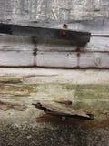 被放弃的码头细节 库存图片