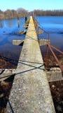 被放弃的码头 免版税图库摄影