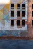 被放弃的砖瓦房在底特律 库存照片