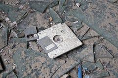 被放弃的磁盘 免版税图库摄影