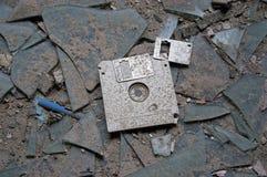 被放弃的磁盘 免版税库存图片