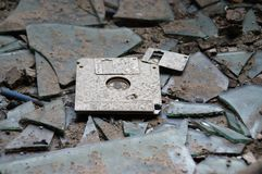被放弃的磁盘 库存照片