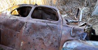 1941被放弃的福特小轿车 库存照片