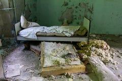 被放弃的精神病院 免版税图库摄影