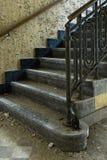 被放弃的编译的老台阶石头 免版税库存照片