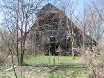 被放弃的美国谷仓在西部田纳西 库存照片