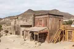 被放弃的美国鬼城 免版税库存照片