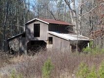 被放弃的老存贮谷仓 库存图片