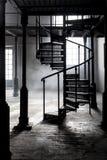 被放弃的老工业空间 免版税库存照片