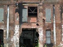 被放弃的老工厂厂房 免版税图库摄影