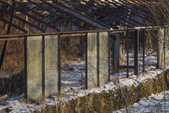 被放弃的老温室 图库摄影