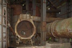 被放弃的老谷物仓库 免版税图库摄影