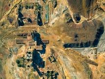 被放弃的老铜提取圣地多明戈斯矿 图库摄影