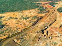 被放弃的老铜提取圣地多明戈斯矿 免版税库存图片