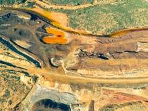 被放弃的老铜提取圣地多明戈斯矿 免版税库存照片