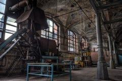 被放弃的肉食品处理植物屠宰场Rosenau,加里宁 库存图片