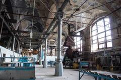 被放弃的肉食品处理植物 屠宰场Rosenau, Kalini 库存照片