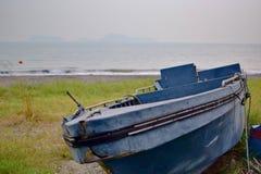 被放弃的船 库存图片