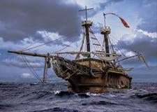 被放弃的船 库存照片