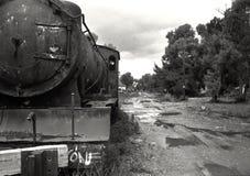 被放弃的蒸汽火车 免版税库存照片