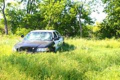 被放弃的警察汽车 免版税图库摄影
