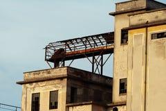 被放弃的详细资料工厂 库存照片