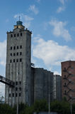 被放弃的谷物仓库在哈尔科夫 免版税库存照片