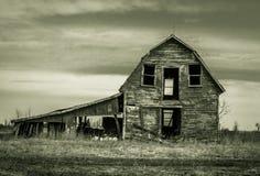 被放弃的谷仓 库存照片