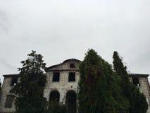 被放弃的豪宅 库存图片