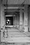 被放弃的走廊 库存图片