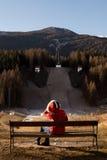 被放弃的跳高滑雪 图库摄影