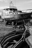 被放弃的造船厂 库存图片