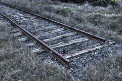 被放弃的铁路在马德里,西班牙 免版税图库摄影