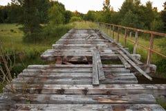 被放弃的铁路桥 免版税图库摄影