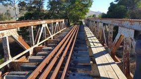 被放弃的铁路桥 库存图片