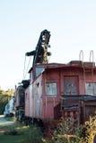 被放弃的铁路车 免版税库存照片
