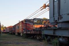 被放弃的铁路车 免版税图库摄影