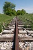 被放弃的铁路透视 免版税库存照片
