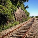 被放弃的铁路 图库摄影