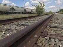 被放弃的铁路 免版税库存照片