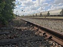 被放弃的铁路 免版税图库摄影