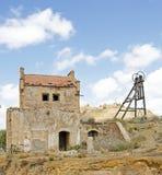 被放弃的锡矿,西班牙 免版税库存照片