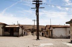 被放弃的镇- Humberstone,智利 库存照片