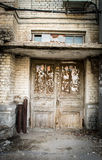 被放弃的门道入口 免版税库存照片