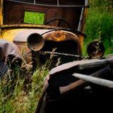 被放弃的阿拉斯加汽车chitina 库存图片